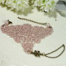 Gothic Lolita Crochet Sexy Vintage Style Slave bracelet BR212
