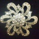 Bridal Cake decoration vintage style  Rhinestone Brooch pin PI439