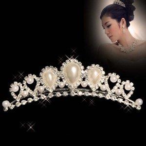 Bridal Rhinestone Flower crystal Hair tiara Comb HR156