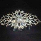 Bridal crystal Headwear rhinestone headpiece hair tiara crown comb RB523