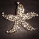 Bridal Starfish crystal Rhinestone Brooch pin Pi205