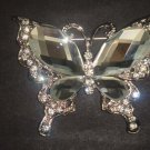 Bridal Butterfly cake dress scarf decoration Crystal Rhinestone Brooch pin PI547