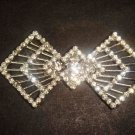 Bridal Bow rhombus crystal sew repair Rhinestone clasp hook button BU67