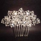 Bridal Rhinestone Flower Crystal Hair tiara Comb RB361