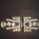Vintage style  Rhinestone clasp hook buckle button BU49