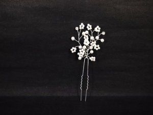 Bridal Faux pearl crystal rhinestone Hairpin hair pin RP173