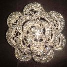 Bridal Vintage Style Bling Rhinestone Brooch pin PI368