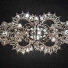 Bridal vintage style Rhinestone clasp hook buckle button BU56