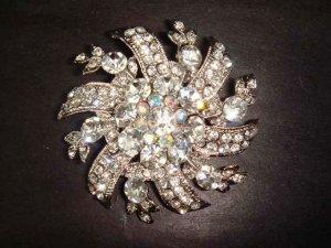 Bridal Crystal bridesmaid cake decoration Rhinestone Brooch pin PI253