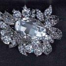 Bridal Rhinestone prom scarf dress decoration crystal Brooch pin PI558