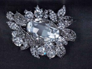 Bridal Rhinestone prom scarf dress decoration crystal Brooch pin PI558