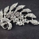 Bridal leave cake scarf dress decoration crystal Rhinestone Brooch pin PI530