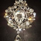 Bridal Dangle Vintage style Rhinestone Brooch pin PI378