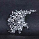 Bridal Rhinestone crystal scarf cake dress decoration  Brooch pin PI552