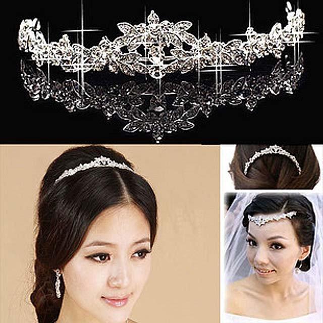Bridal Rhinestone AB Crystal Prom Headdress Headpiece crown Hair tiara HR175