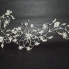 Bridal Rhinestone leaf forehead band Headpiece Hair Vines Halos tiara RB272