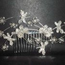 Bridal Rhinestone dragonfly tiara Crystal Hair Comb RB194