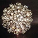 Bridal Vintage Style crystal cake decoration Rhinestone bling Brooch pin PI225