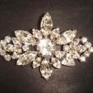 Bridal bling Vintage style crystal Rhinestone Brooch pin PI277
