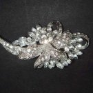 Bridal Cake Dress decoration Faether crystal Rhinestone Brooch pin