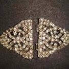 Vintage style crystal Rhinestone clasp dress buckle button BU50