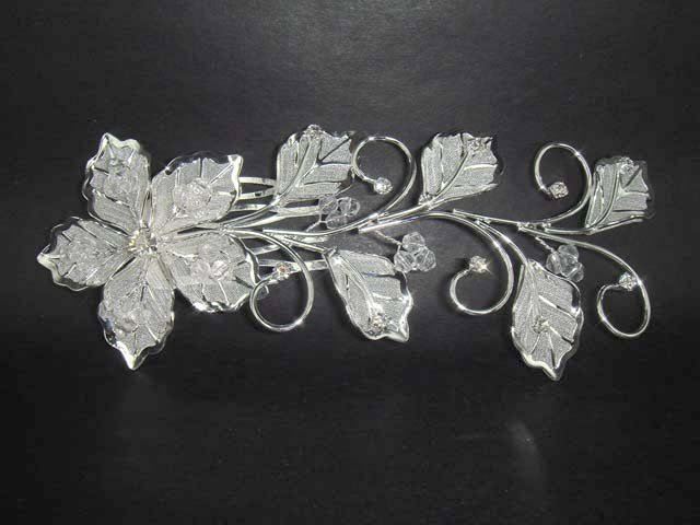Wedding Bridal crystal Flower Rhinestone Hair Headdress tiara Comb RB597