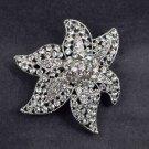 Bridal cake topper starfish Crystal Rhinestone Brooch pin Pi583