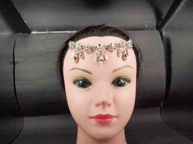Bridal Rhinestone applique cystal Pendant forebead Headband hair tiara HR147