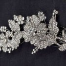 Bridal crystal Flower rhinestone headpiece hair tiara topknot comb RB598