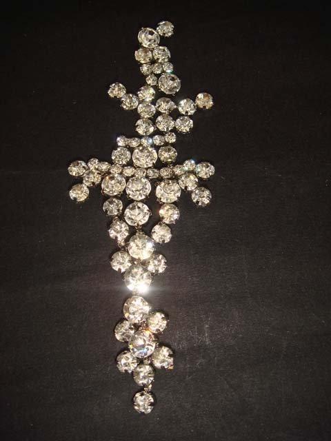 Bridal Rhinestone applique cystal Headpiece Headdress hair crown tiara HR144