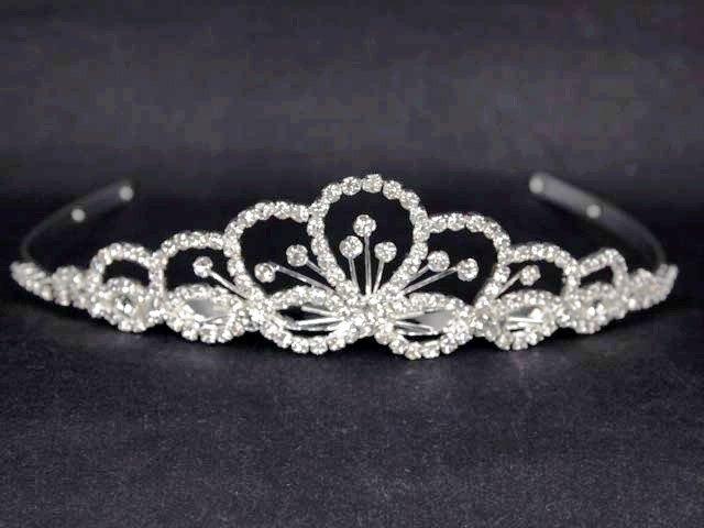 Bridal Rhinestone Crystal Prom headdress Headpiece crown Hair tiara HR190