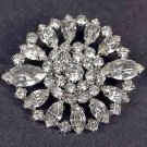 Bridal crystal dress scarf decoration Rhinestone Brooch pin Pi562