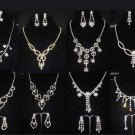 Bridal Rhinestone crystal Topknot earring necklace set NR386