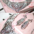 Bridal Rhinestone crystal Topknot earring necklace set NR404