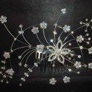 Bridal Rhinestone Flower crystal Headdress Headpiece Hair tiara Comb RB429