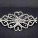 Bridal Crystal Rhinestone Headpiece headdress Heart Hair tiara Comb RB499