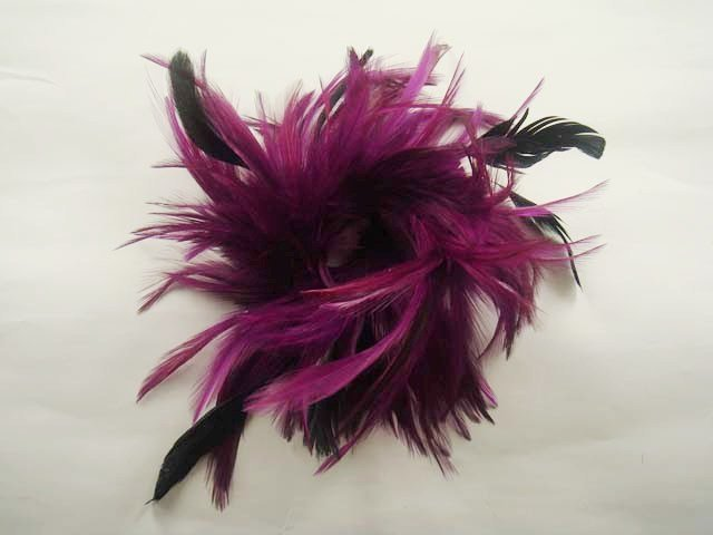 Bridal Feather Fascinator headpiece hair White brooch clip BA149
