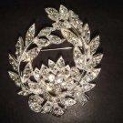 Bridal wreath crystal Vintage style Rhinestone Brooch pin Pi269