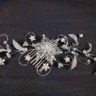 Bridal Headpiece headdress Crystal Fuax Pearl Hair tiara rhinestone comb RB563