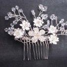 Bridal flower crystal rhinestone headpiece hair tiara topknot comb RB615
