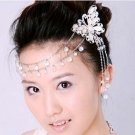 Bridal Butterfly Rhinestone Scarf Forehead band Sweater chain clip RB575