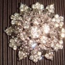 Bridal Crystal Cake dress decoration Vintage style Rhinestone Brooch pin PI27
