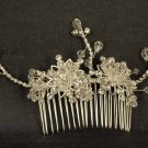 Bridal Crystal Adjustable Rhinestone Hair tiara Comb RB470