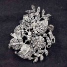Bridal leave cake scarf dress decoration crystal Rhinestone Brooch pin PI531