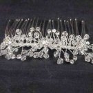 Bridal Rhinestone Headdress Headpiece crystal Hair Tiara Comb RB544