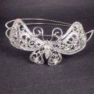Bridal Rhinestone Butterfly headpiece AB crystal Hair tiara Comb HR169