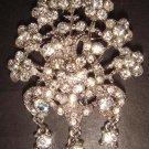Bridal Vintage style Dangle crystal Brooch pin Pi167