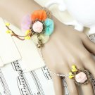 Sexy Lolita Belly dance flower colorful country Rabbit slave Bracelet BR332