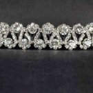 Bridal Rhinestone Crystal Prom 2 row Headpiece Hair tiara Comb RB589