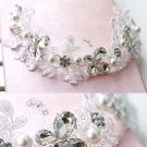 Bridal Rhinestone Adjustable forehead band butterfly lace Hair tiara HR204